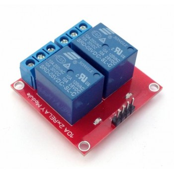Релейный модуль 12В, 10А, 2 канала