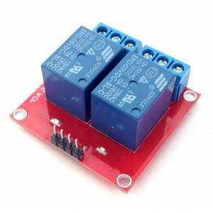 Релейный модуль 5В, 10А, 2 канала
