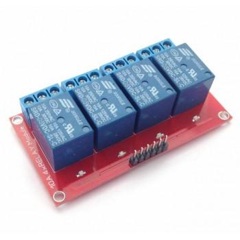 Релейный модуль 5В, 10А, 4 канала