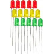 Набор светодиодов 15 шт. (красный желтый зеленый)